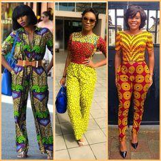 Jumpsuits That Prove Ankara is Chic ~African fashion, Ankara, kitenge, African women dresses, African prints, Braids, Nigerian wedding, Ghanaian fashion, African wedding ~DKK