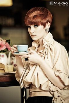 I styled this shoot and loved what Nathan Jasztal from Silhouette Du Barry did with Erin's beautiful short red hair