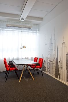Lab table and chairs (design Harri Korhonen)