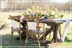 Kelli Holder Photography | Dallas, TX  Beautiful outdoor wedding table. Outdoor Wedding Tables, Outdoor Furniture Sets, Outdoor Decor, Dallas, Photography, Beautiful, Home Decor, Photograph, Decoration Home
