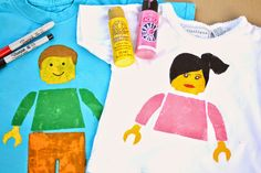 Plenty of Paprika: DIY LEGO Figure Stencil Shirts