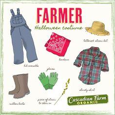 "Halloween costume idea. Dress like a ""classic"" farmer!"