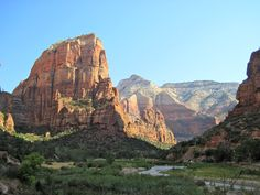 Angels Landing    Zion National Park. I actually hiked up that mountain. Crazy scarey, amazing, awesome!