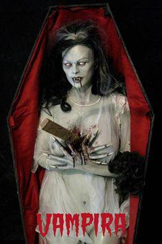VAMPIRA with COFFIN Halloween Prop
