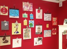 clip art pieces to the wall instead of framing/hanging them! #hpmkt