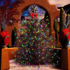 ...Would have this ... Southwest Christmas Tree .. in the Courtyard...