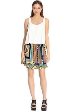 Warehouse Tribal Skater Skirt