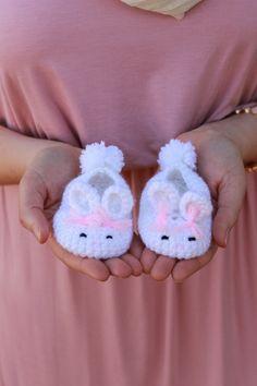Baby Bunny Slippers - Handmade Crochet