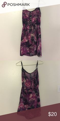Summer dress 💜 Summer dress from Forever21. Short length. Combination of purple shaded leaf designs. Worn once. Forever 21 Dresses Mini