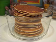 Protein pancakes made with cottage cheese.