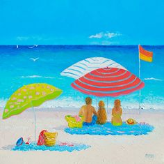 """#BeachPainting - Endless #Summer Days"" by Jan Matson"