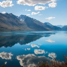 25% Wall Art: Use code DREAM25 Expires June 21, 2018, at 11:59 pm Lake Wakatipu Panorama with reflections in the water
