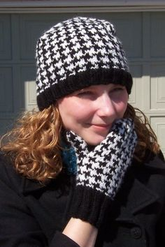Free Crochet Pattern Houndstooth Hat : Hounds tooth crochet on Pinterest Houndstooth, Tunisian ...