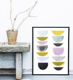Abstract Art, Printable Art, Geometric Art Print, Scandinavian Art, Mid Century print, Modern Art, Wall Decor, Wall Art, Instant Download