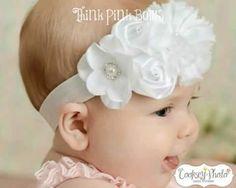 Preciosas diademas para tu bebé (ideales para bautizos)