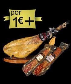 Por 1,00€ más 1 jamón ibérico de cebo en montanera, 1/2 chorizo ibérico de cebo en montanera y 1/2 salchichón ibérico de cebo en montanera. Mira el precio. http://www.jamonibericosalamanca.es/es/promocion