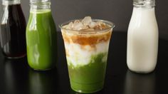 Make this beautiful layered matcha espresso drink at home, normally only found in Starbuck's Asia! Espresso Drinks, Best Espresso, Coffee Drinks, Espresso Coffee, Fusion Food, Tea Recipes, Coffee Recipes, Dessert Recipes, Matcha Green Tea Latte