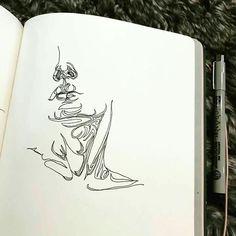 drawings of people Pencil Art Drawings, Art Sketches, Illustration Design Graphique, Arte Sketchbook, A Level Art, Art Hoe, Sketchbook Inspiration, Aesthetic Art, Love Art