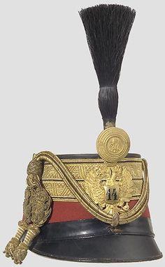Tschako für einen Rittmeister des 14. Husarenregiments.