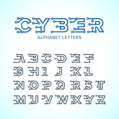 Tipo Alfabeto de Techno Do Cyber Da Fonte Lettras, Numeros e Simbolos do estilo da ola! - pt.dreamstime.com jpg