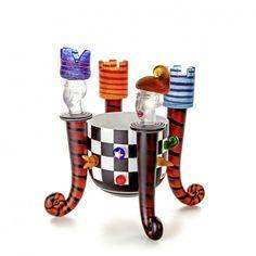 Stani Jan Borowski Glass Art Chess Bowl