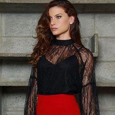 Close na nossa blusa de renda 🖤 #perfeita 🖤 #pinkobymiia #usepinkobymiia #lookspinkobymiia #modafeminina #ootn #renda