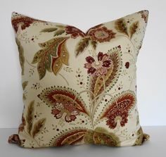 FREE SHIPPING -   Decorative Pillow Cover,  Throw Pillow, Brown, Green, Tan, Rust