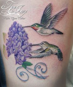 lilacs and birds   Tattoos of Critters and Creepy Crawlies   Just TeeJay's Blog
