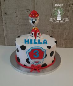 Ryhmä hau kakku, Paw patrol cake Paw Patrol Cake, Cake Art, Cake Decorating, Food And Drink, Birthday Cake, 3 Years, Desserts, Pasta, Cakes
