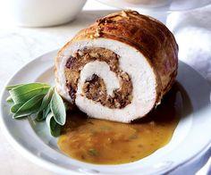 Turkey Roulade with Apple-Cider Gravy    // Recipe: http://www.finecooking.com/recipes/turkey-roulade-apple-cider-gravy.aspx?utm_source=social_medium=pinterest_term=no_offer_content=fcrecipe_campaign=fc_social