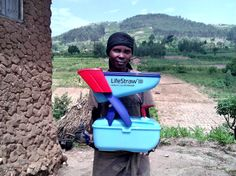 Safe drinking water and improved cookstove program in Rwanda with DelAgua Health. LifeStraw Family 2.0