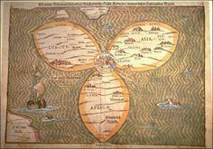 Clover-leaf world map (1588)