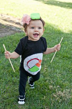 GOLD FEATHERS. ADVENTURES, INSPIRATION, AND OTHER LOVELY THINGS.: DIY CALIFORNIA ROLL SUSHI COSTUME FOR BABY