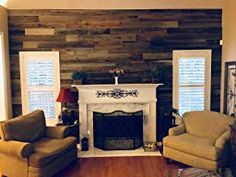 Plank and Mill Reclaimed Barn Wood Wall Panels - Simple Peel & Stick Natural Aged Planks - 1 Sq Ft Sample Pack of 5 & Wide: Whitewashed & Classic Barn Wood Reclaimed Barn Wood, Rustic Wood, Wood Panel Walls, Cozy Fireplace, Raw Wood, Rustic Walls, Classic Furniture, Wood Planks, Traditional Design