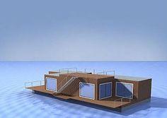 Imagen del renderizado muestra una vivienda compacta de lineas contemporáneas