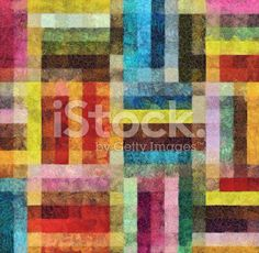 Colorful Geometric Abstract Background Painting royalty-free stock illustration