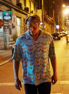 Mads as Nigel from Charlie Countryman. Someone needs to ask the costume designer what the heck they were thinking with this shirt.