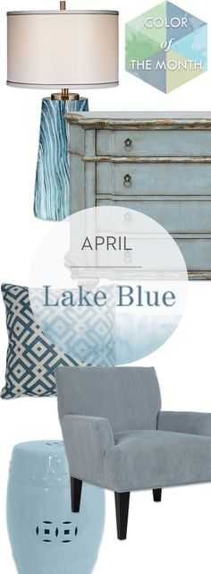 A top color for spring and summer, this watery shade of blue can cool off any room. Shop online now. #LivingSpaces