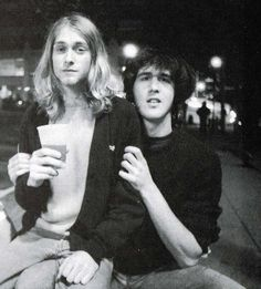Kurt Cobain and Krist Novoselic | Rare and beautiful celebrity photos
