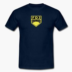 """Have a soft spot for East Germany (DDR / GDR) and their youth organization """"Freie Deutsche Jugend (FDJ)""""? The suggested color for the t-shirt is blue of course. tags: DDR, communism, soviet union, communist https://shop.spreadshirt.fi/revolt-noir/""""fdj""""-A106435725?appearance=4"""