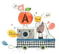Latest: A is for Apple by Valesca van Waveren, via Behance
