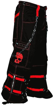"Tripp NYC ""Electro Skull"" Pants (Black/Red)"