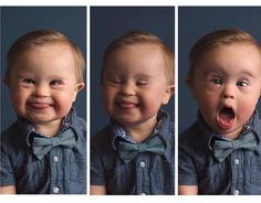 """Boy With Down Syndrome Rejected by Osh Kosh B'gosh Because They Never """"Requested a Special Needs Baby"""" - By Jenny Rapson October is Down Syndrome Awareness Month, and I LOVE that we've seen some amazing kids with Down syndrome go viral this month. So Cute Baby, Baby Kind, Cute Kids, Cute Babies, Chubby Babies, Precious Children, Beautiful Children, Beautiful Babies, Beautiful Words"""