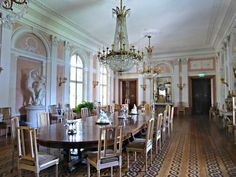 Lancut | The Dining Room of Lancut Castle (now a museum), which was once owned by the fabulously wealthy Potocki family.  Count Alfred, who fled the town in 1944 as the Soviet Red Army advanced on it, designated his home as a 'People's Museum', which saved it from looting and burning.  It is considered to be one of Poland's top historic houses still preserving many of its original contents.  Originally constructed between 1628 and 1641 for the princely Lubomirski f...