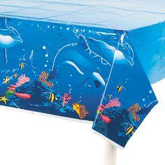 Dolphin Tablecloth: $3.50 Each @ OrientalTrading.com: Need 2