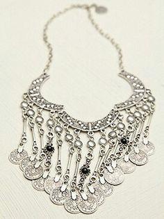 Gypsy Boho Coin Drop Necklace