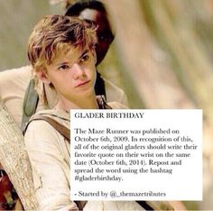 What if my favorite quote is Newt? #gladerbirthday