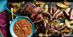Looking for a skirt steak recipe? This delicious steak tastes great with homemade chimichurri sauce.