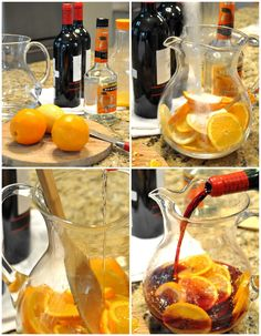 Red Wine Citrus Sangria with Triple Sec