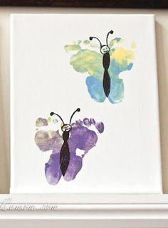 footprint butterfy art
